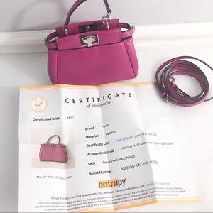 FENDI Micro Peekaboo Bag Lambskin Leather